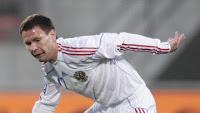 Константин Зырянов - автор гола в матче Россия - Лихтенштейн