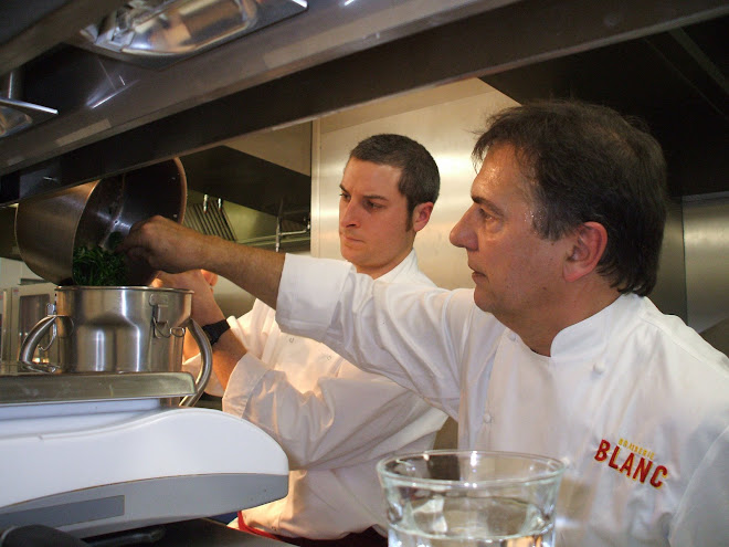 Russell and Raymond Blanc Cooking