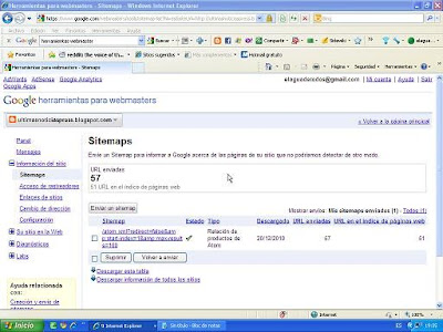 solución al problema de atom.Como enviar a Herramientas webmaster de Google el sitemap atom.xml en blog de blogger con mas de 26 paginas