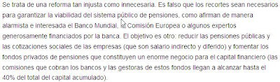 el PSOE, gobierno y politicos se venden a la banca y predican con mentiras para recortar las pensiones públicas