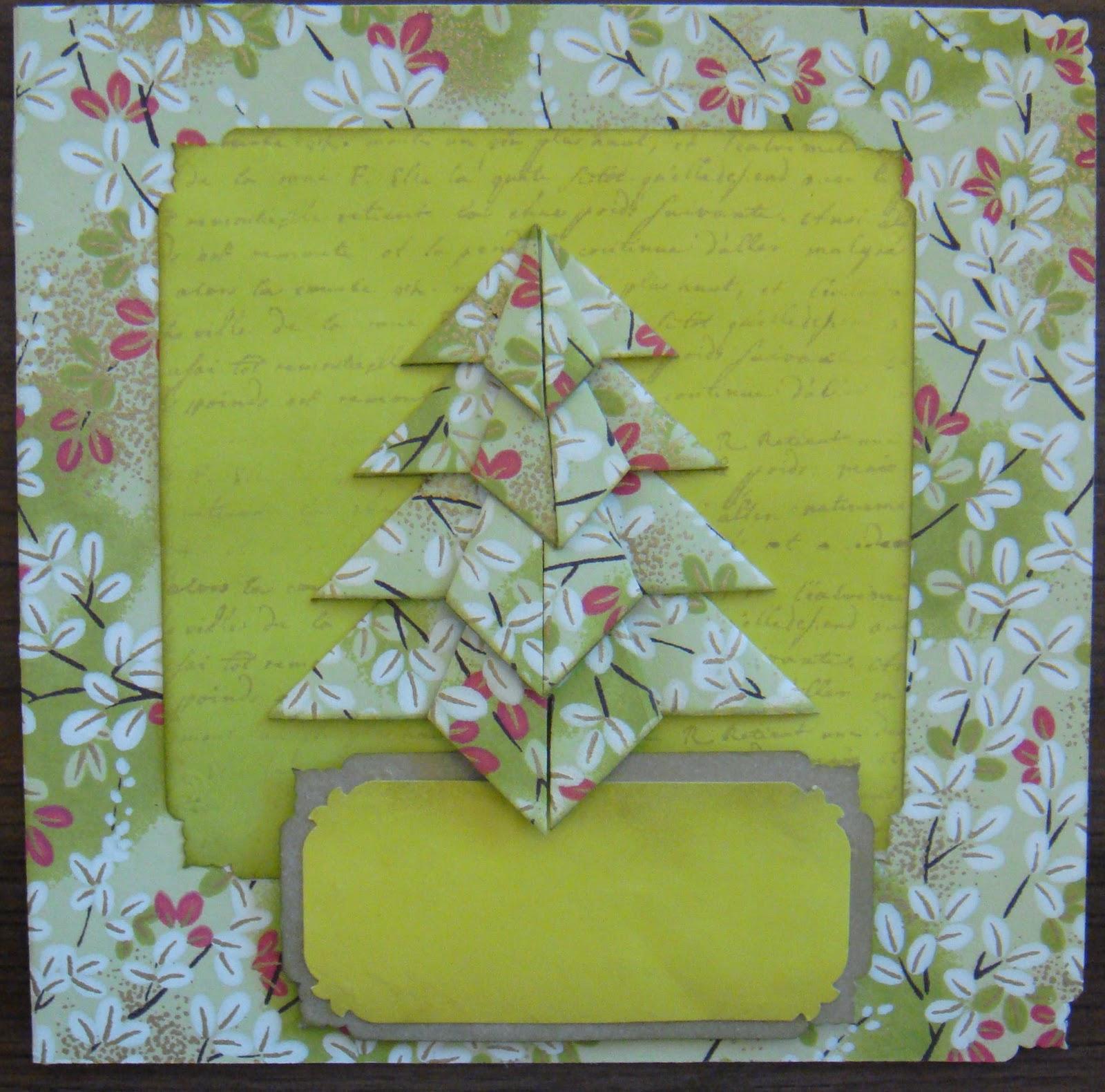 Mi mundo en papel tarjetas navide as con rbol de navidad - Manualidades postales navidad ...