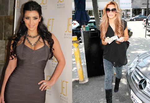kim kardashian blonde hair 2009. Kim Kardashian with londe