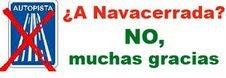 NO AL DESDOBLAMIENTO DE LA CARRETERA DE NAVACERRADA