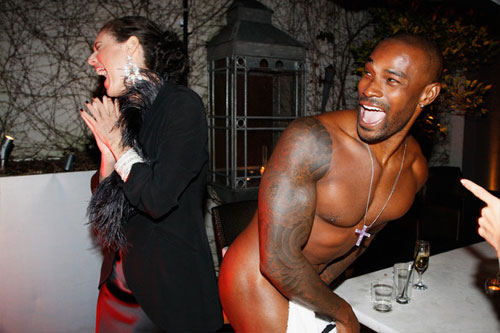 Tyson Beckford coached