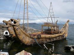 Giant Reed Boats, Isla De La Sol, Lake Titicaca