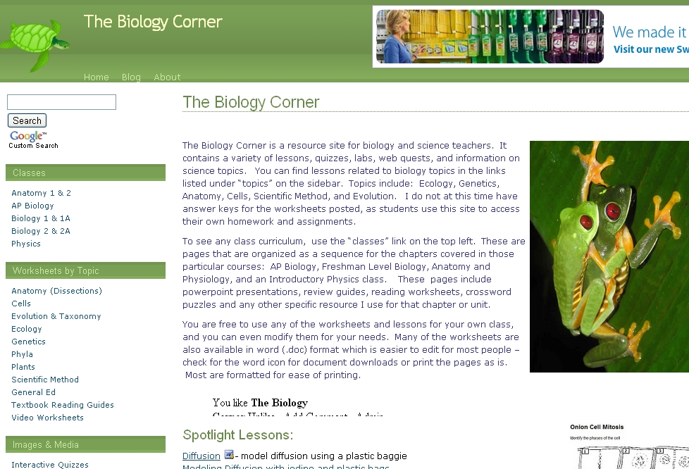 Worksheet Biology Corner Worksheets educational technology guy the biology corner corner