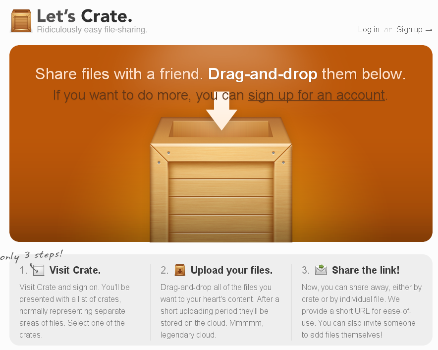Let's Crate, file sharing