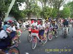 Bersepeda rayakan HUT RI di Grobogan