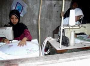 industry Kecil Mukena  di Grobogan Jawa Tengah