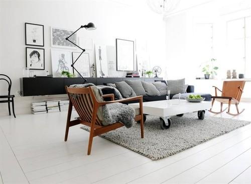 arredamento nordico: pavimento soggiorno nordico - Soggiorno Nordico