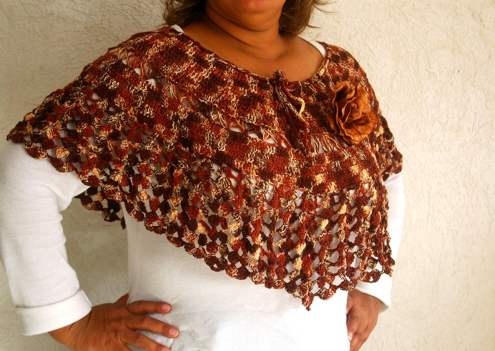 Curioseando Con Lupys: Capa tejida en crochet