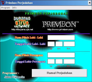 Free download software Ramalan Primbon (Ramalan Perjodohan)