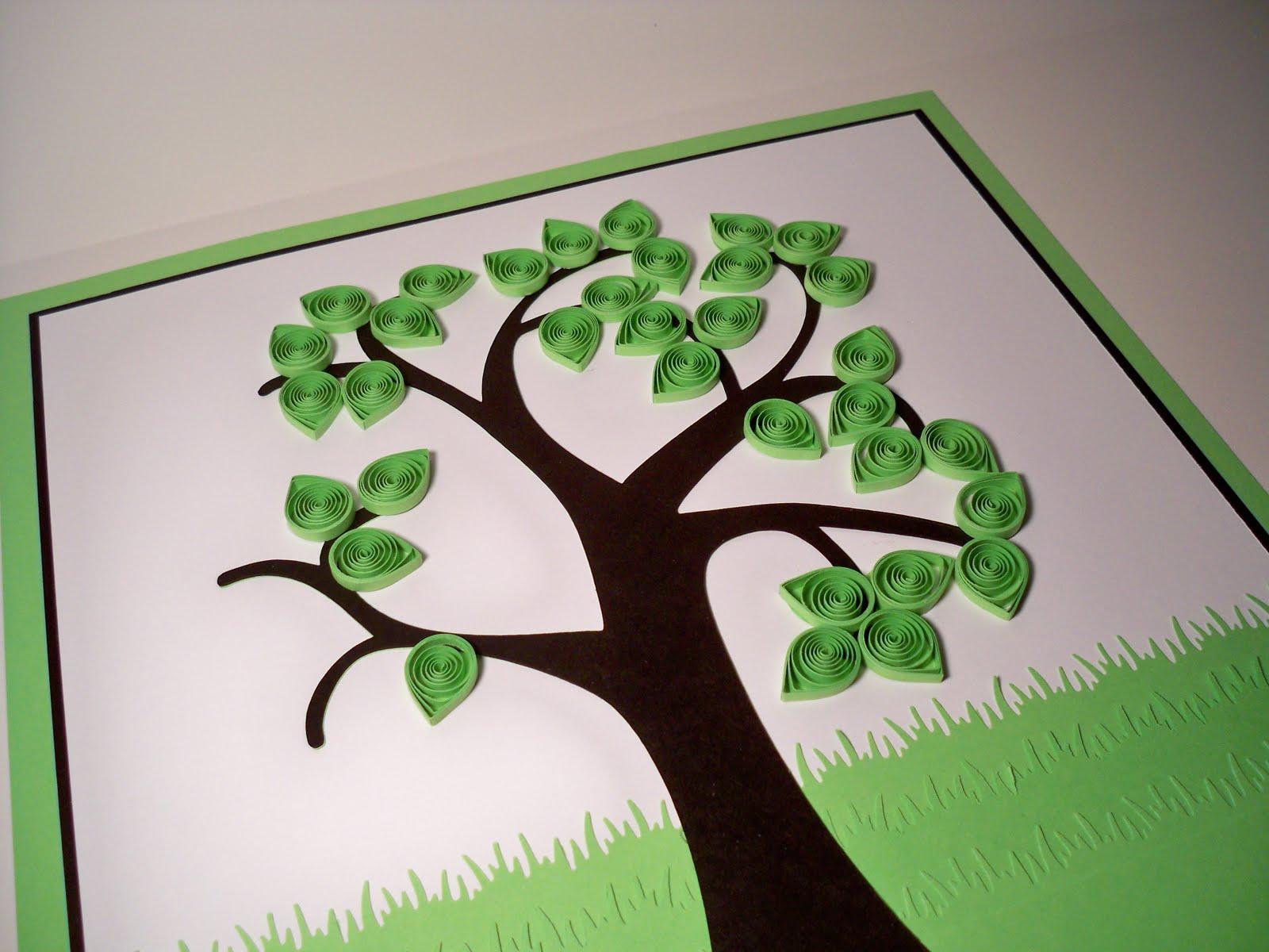 Как сделать дерево на бумаге