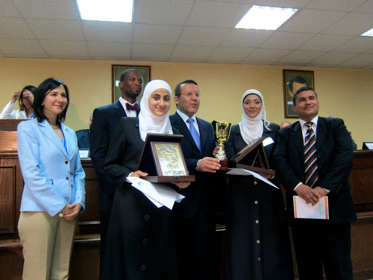 Winners of Jordanian National Moot Court Competition
