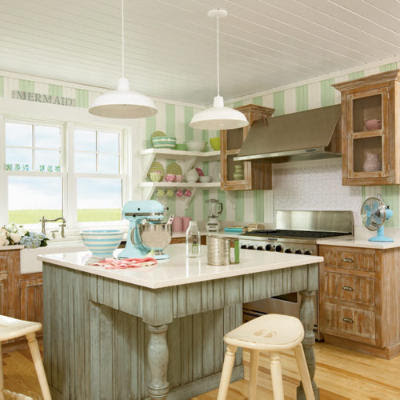 Sweeter homes maine getaway for Cottage kitchen lighting ideas