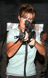 public domain Image:Sarah Palin in Kuwait: Just God, Guns and Bibles, Boys!