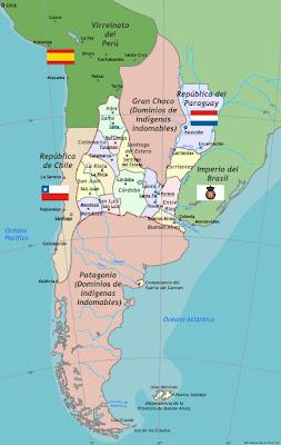 MAPOTECA VIRTUAL MAPA HISTÓRICO DE ARGENTINA - Argentina mapa