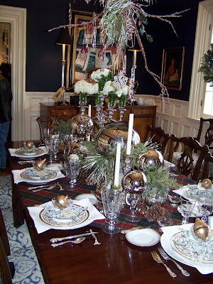 Mary Carol Garrity's dining room is spectacular! Her table setting is