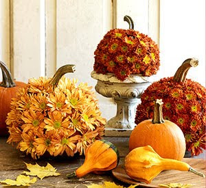 Silver Trappings Decorating With Pumpkins