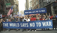 Anti-war protest in New York.