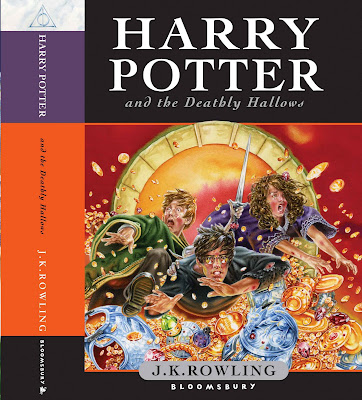 Harry Potter and the Deathly Hallows UK front cover art.
