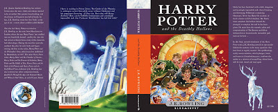 Harry Potter and the Deathly Hallows UK full cover art (front and back).