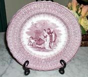 Romantic Transferware Plate