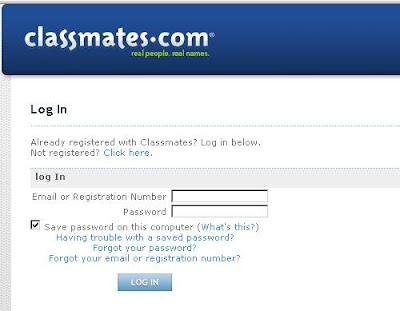Classmates.com Login, Classmates.com Home page