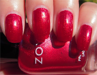 dark red sparkle nail art