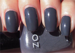 dark gray creme nail art