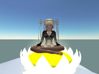second life - meditation in a lotus on top of a mountain