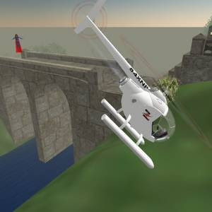 Cyberspace-3d virtual reality helicopter crash