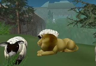 Cyberspace-3d virtual reality-A LION AMONG SHEEP