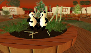 Second life animals - panda bears