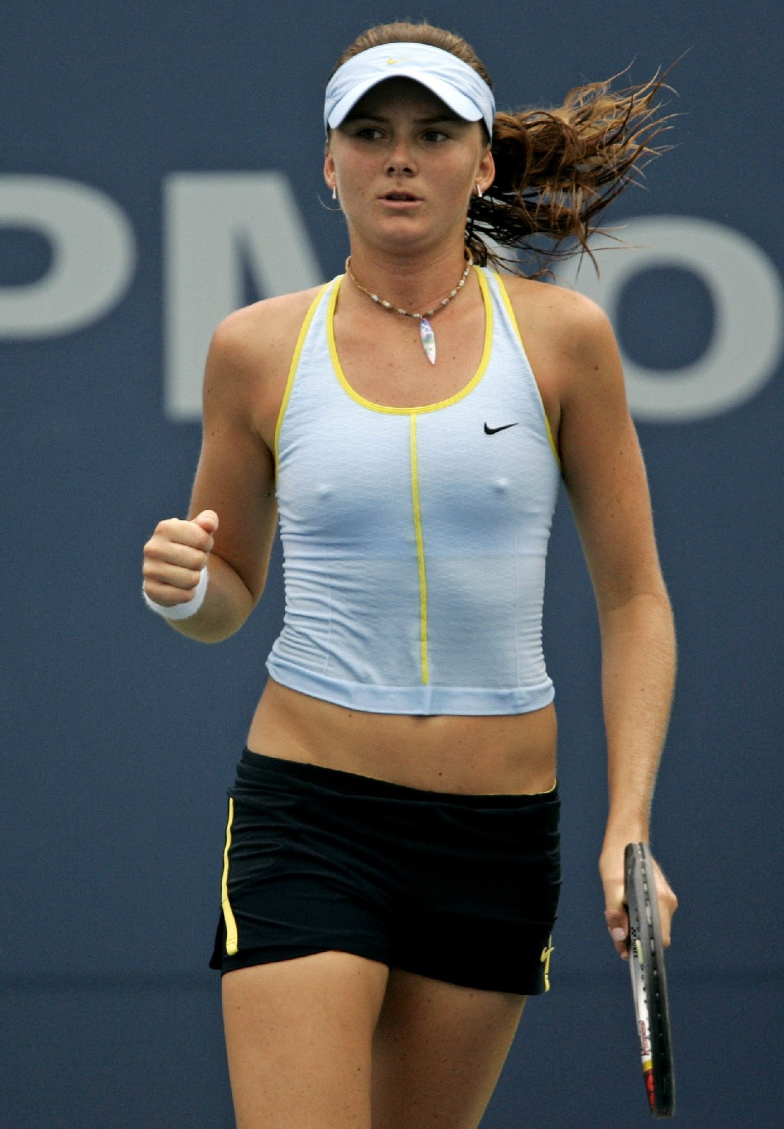 Can women tennis players nip slip congratulate, your