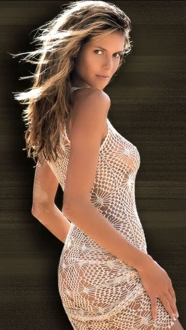 Вязаные пляжные платья
