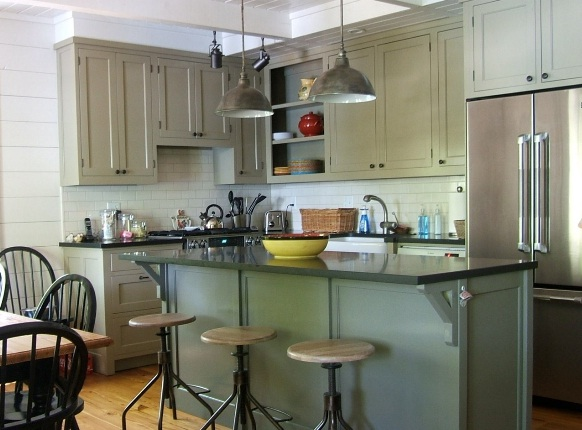 Cocina isla mesa: cocinas con isla multifuncional para todos los ...