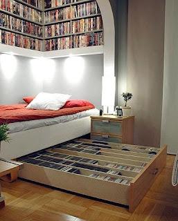 libreria habitacion italiana