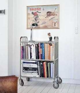 carrito vintage con libros