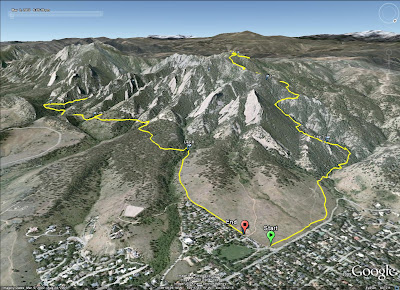 Green Mountain/Bear Canyon Run GPS Track