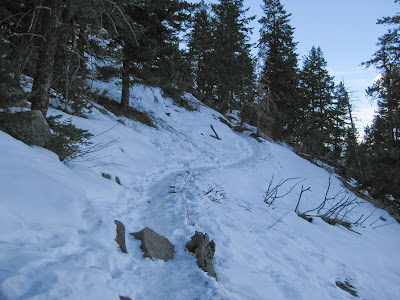Saddle Rock Trail With Snow