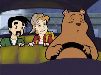 Bear Driving Car Clerks