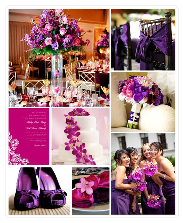 Pink And Purple Wedding: NicolaRobyn Events: Wedding Colors: Pink And Purple