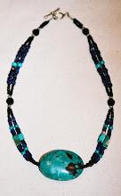 Turquoise, lapis lazuli, onyx, sterling
