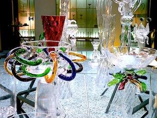 ダ・ドリアデの扱うガラス商品が素敵でした。