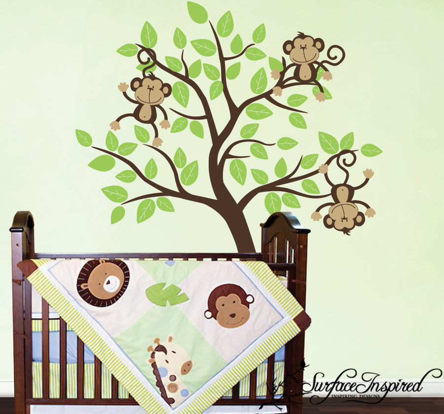 surface inspired blog new monkey wall decals for your little monkey