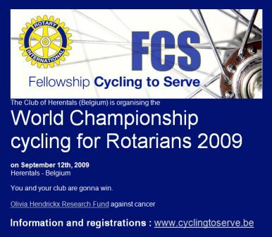 World Championship cycling for Rotarians 2009