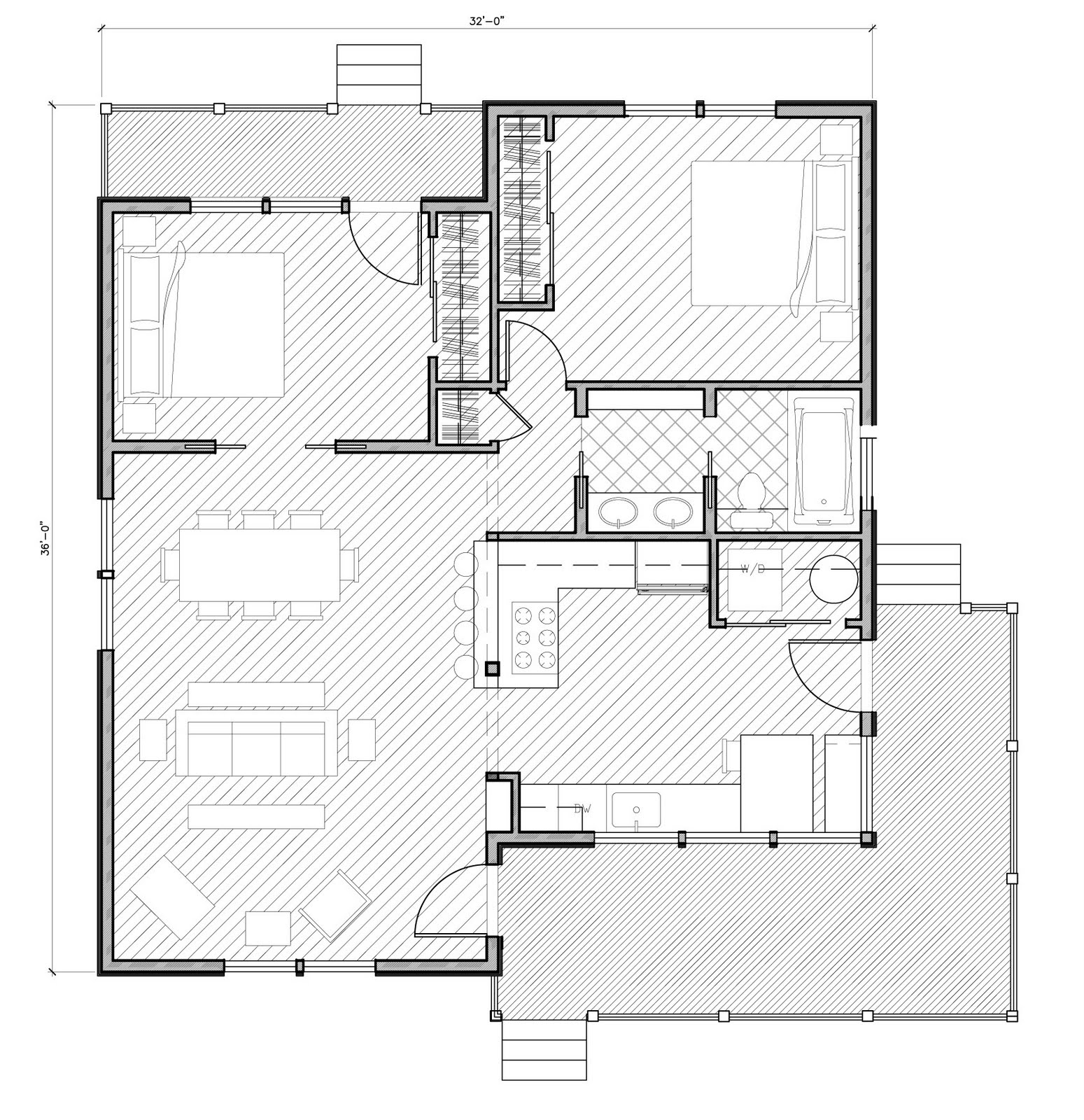 Design banter more d a home plans 3 plans under 1 100 for 1100 square feet