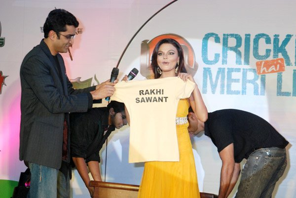 rakhi sawan announcement of icls cheerleading squad actress pics