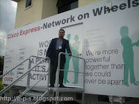 photo of my visits at Cisco Express - Network on Wheels -masuk kontena